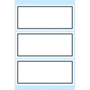 HERMA Buchetiketten; 82 x 36 mm; weiß mit grauem Rand; Papier; permanent haftend; zum Beschriften mit allen Schreibgeräten; 9 Etiketten; 5711