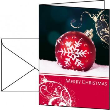 Sigel Weihnachts-Faltkarte, Premium; DIN A6, hoch; Felicity, englischer Text; DS013; Glanzkarton, Gold-/Blindprägung; 220 g/qm