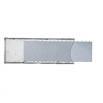 LEITZ Beschriftungsschild; 53 x 19 mm; weiß; Papier / Weichfolie; permanent; Kunststofftasche; für Handbeschriftung; 5 Streifen; 10 Schildchen
