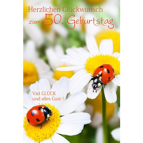Gluckwunschkarte Zum 50 Geburtstag