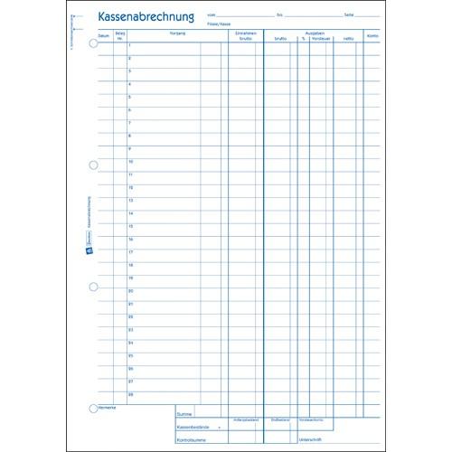Avery Zweckform 428 Kassenabrechnung mit Blaupapier | 5 St/ück